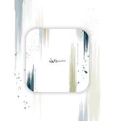 Abstract background design watercolor splash vector