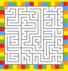 abstract square maze in a frame of bright squares vector image