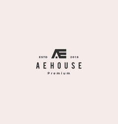 Ae house home roof logo icon vector