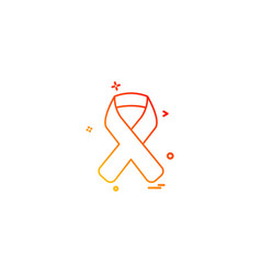 Aids blood disease hiv ribbon icon desige vector