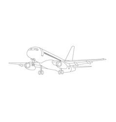 airplane icon airplane flight vector image