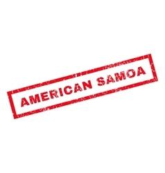 American Samoa Rubber Stamp vector