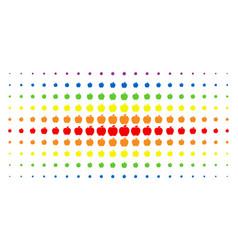 apple spectrum halftone array vector image