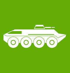 armored personnel carrier icon green vector image
