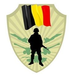 Army of Belgium vector image