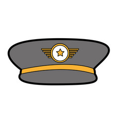 Army officer hat icon vector