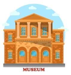 Artistic or cultural historical or gallery museum vector image