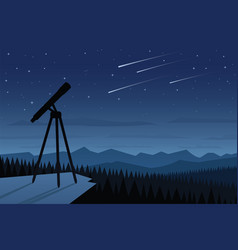 Astronomy and beautiful night sky scene vector