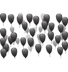 black balloons with discount vector image