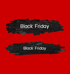black friday design on paint brush vector image