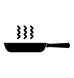 Black skillet graphic design vector
