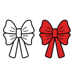 bow icon on white background vector image