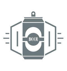 can beer logo simple gray style vector image