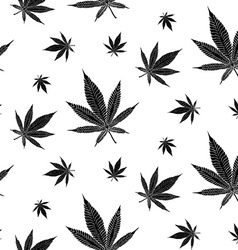 Cannabis pattern9 vector