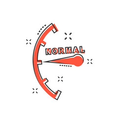 cartoon normal level icon in comic style vector image