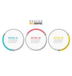 circle infographic design element with 3 options vector image