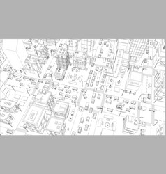 city streets intersection outline vector image
