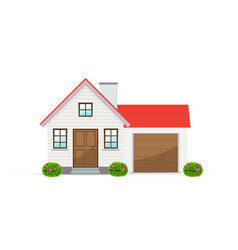 country house with garage vector image