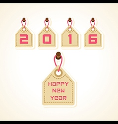 creative New Year 2016 design stock vector image