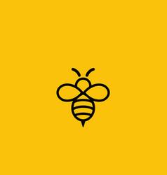 Cute bee logo design vector