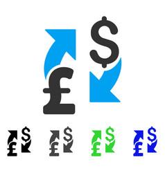 Dollar pound exchange flat icon vector