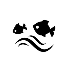 Fish jumping in water vector