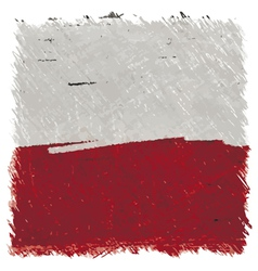 Flag of Poland handmade square shape vector image