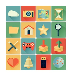 Flat icons web vector