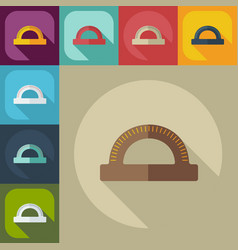 Flat modern design with shadow icon straightedge vector