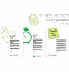 Flyers vector