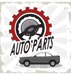 Gauge auto parts repair icon vector