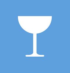 glass icon vector image