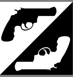 gun black and white vector image