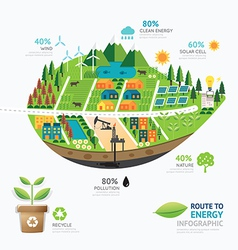 infographic energy leaf shape template design vector image
