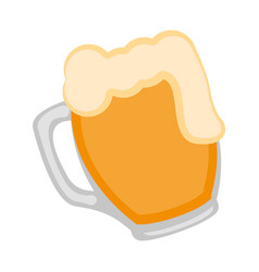 isolated beer mug icon vector image