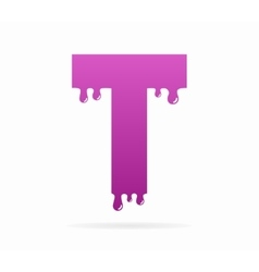 Letter T logo or symbol icon vector image