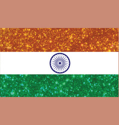 luxury red and blue glitter the republic of india vector image