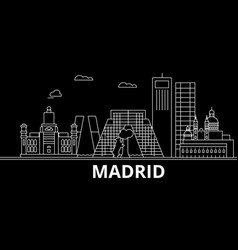 madrid silhouette skyline spain - madrid vector image