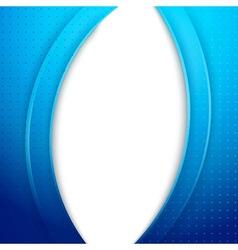 Modern blue folder background template - waves vector