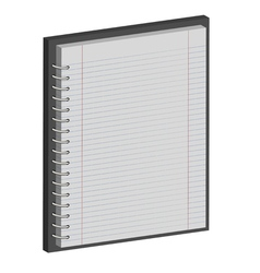 Note book paper notepad 3d vector