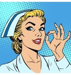 Nurse okay gesture vector image