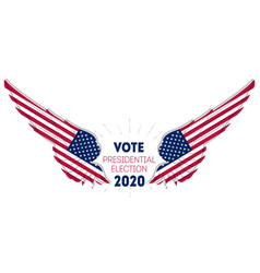 presidential election 2020 in usa election poster vector image