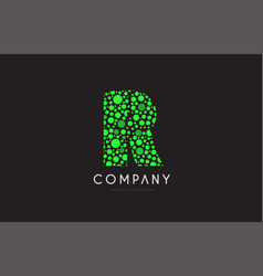 r letter bubble green logo icon design vector image