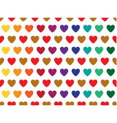 rainbow heart shape pattern vector image