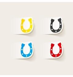 Realistic design element horseshoe vector