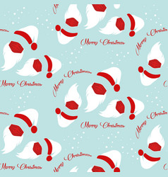 santa claus wears surgical mask seamless pattern vector image