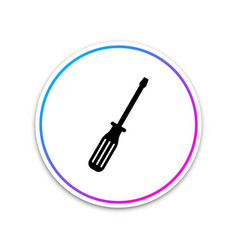 Screwdriver icon isolated on white background vector
