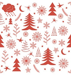 Seamless Christmas pattern red vector