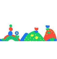 seamless kids drawing border childlike vector image
