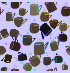 seamless of coffee cup background beverage vector image